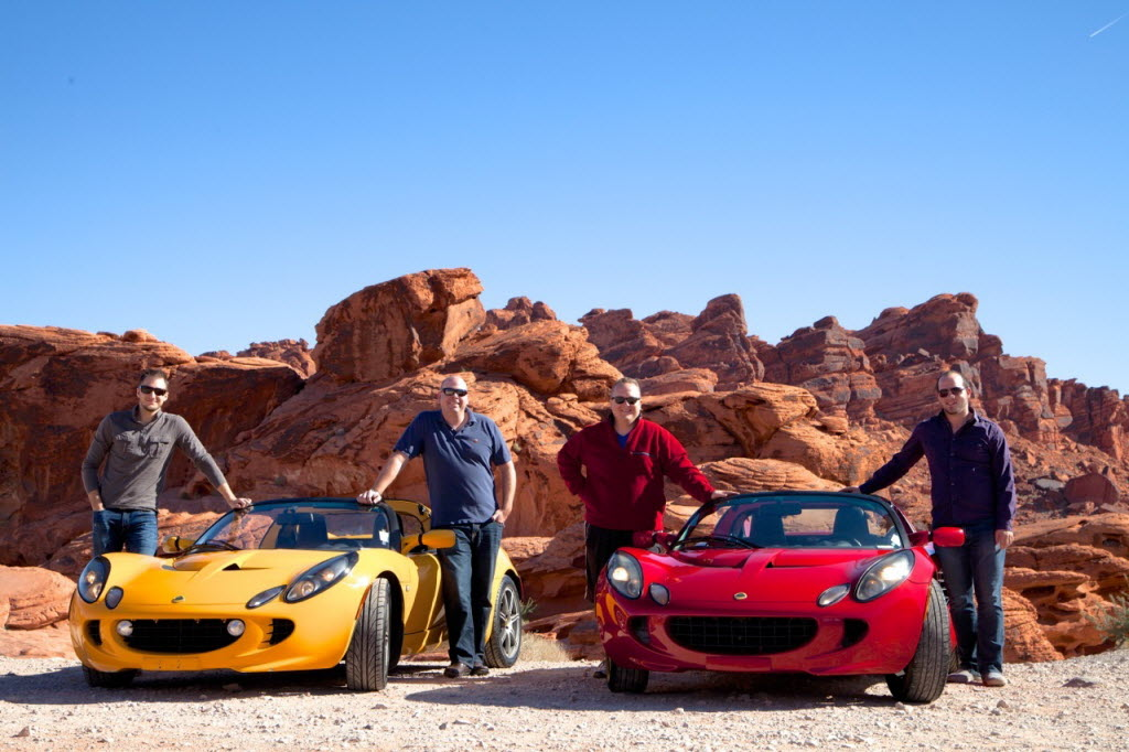 At Improving's annual company retreat in Las Vegas, these employees rented luxury sports cars for the day. (Improving)