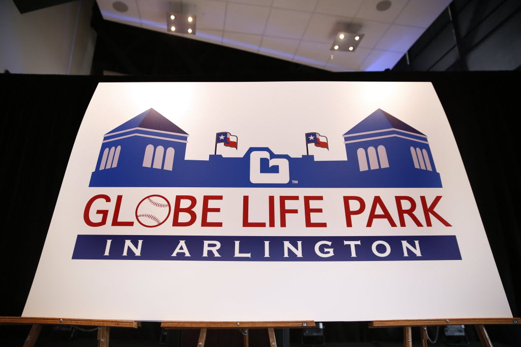 1618228 bytes; 5760 x 3840; The Texas Rangers announced a new 10-year  naming rights deal with Globe Life Accident Insurance for