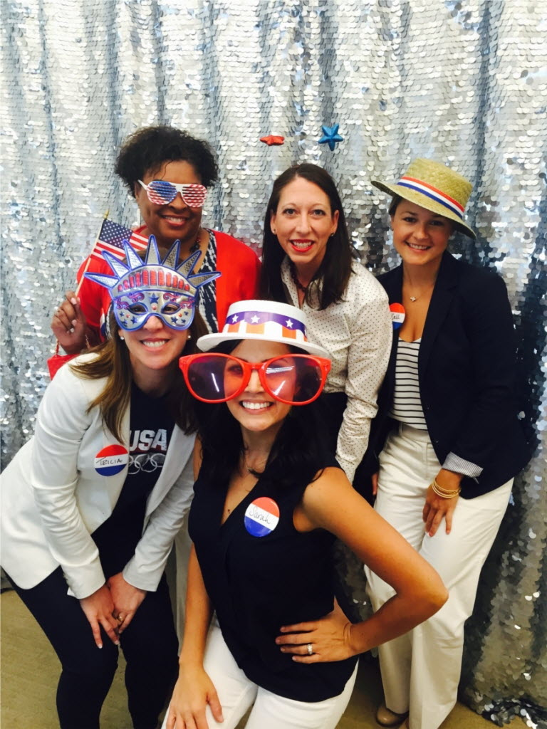 Texas Capital Bank employees dressed up for the 4th of July. (Texas Capital Bancshares)