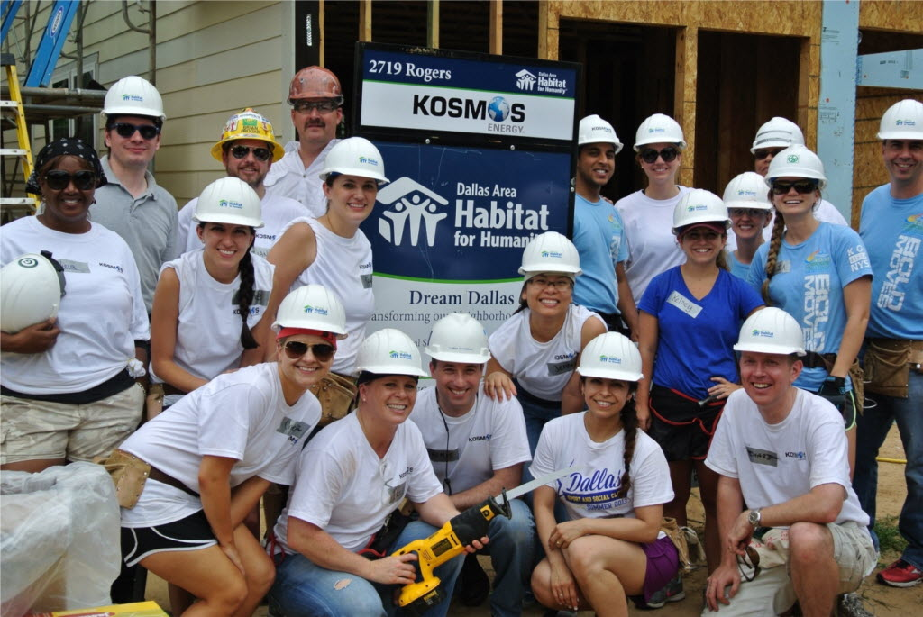 Kosmos Energy had a good turnout for the company's Habitat for Humanity volunteer day. (Kosmos Energy)