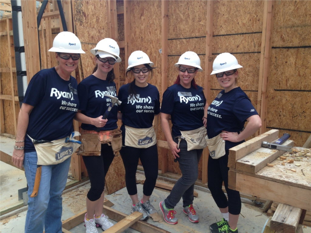 Ryan LLC offers its workers two full days of paid volunteer time to give back to causes, including Habitat for Humanity. (Ryan)