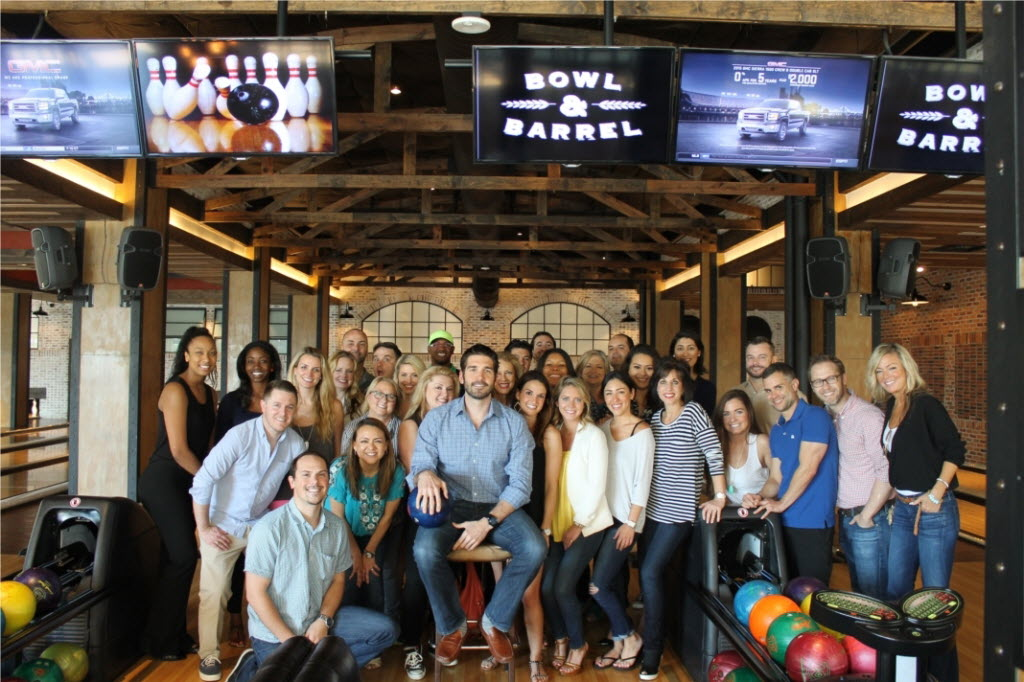 The staff celebrated Rogers Healy's birthday at Bowl & Barrel.   (Rogers Healy)