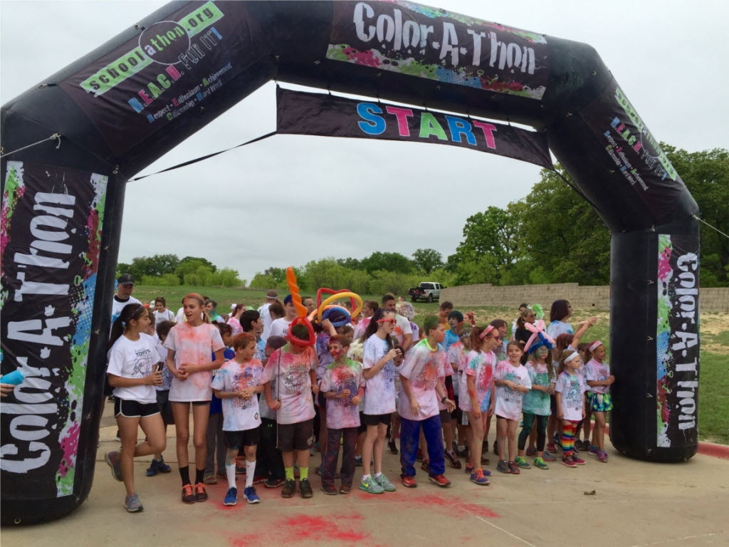 Family Toyota of Burleson sponsored the Bransom Elementary Bobcat Color Dash in Burleson.   (Family Toyota of Burleson)