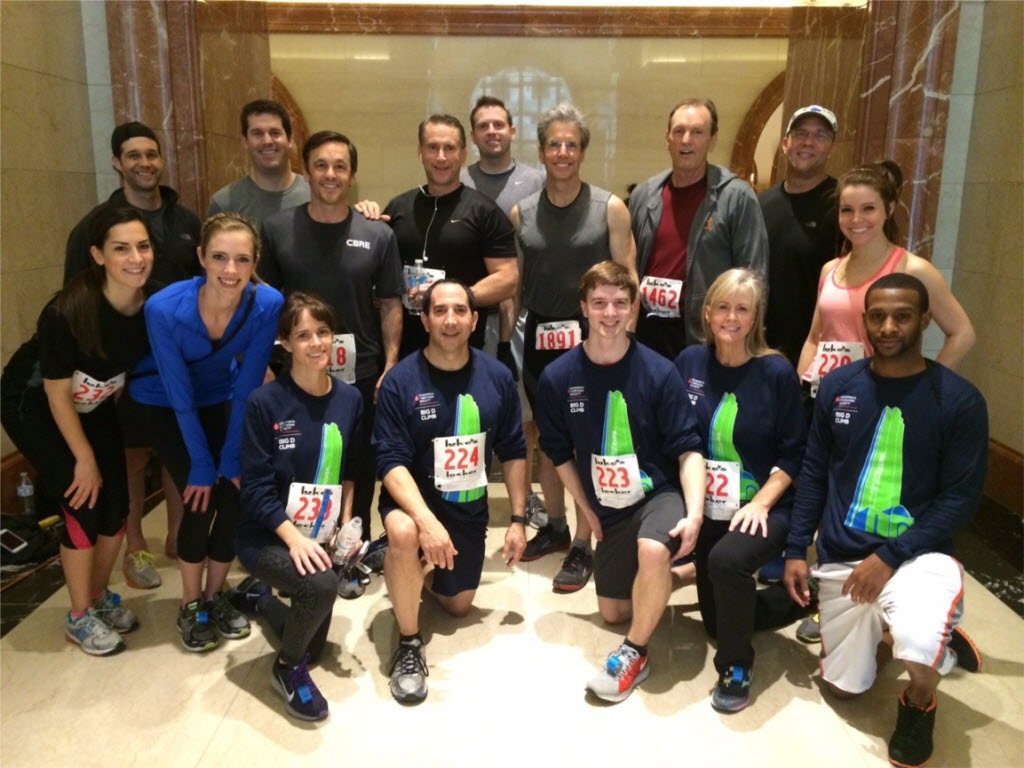 CBRE team members support the Leukemia & Lymphoma Society each year by participating in the Big D Climb. (CBRE)