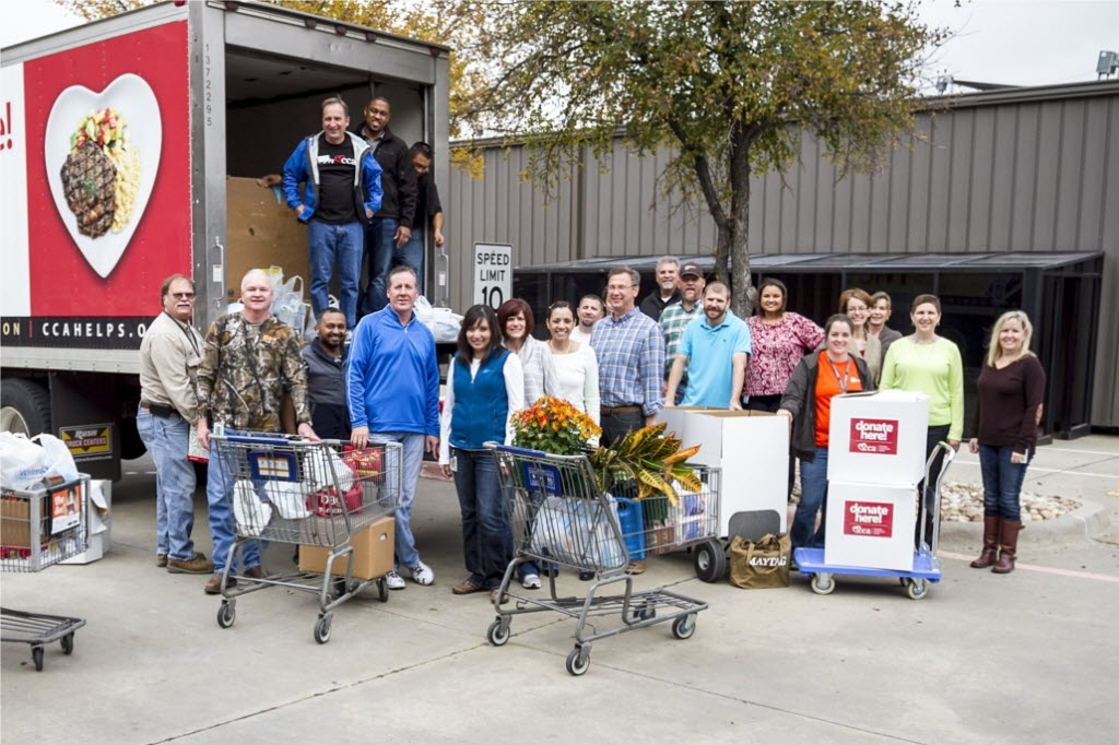 In connection with the 10-year anniversary of CoServ Charitable Foundation, CoServ collected more than 5 tons of food items and supplies for area food pantries. (CoServ)