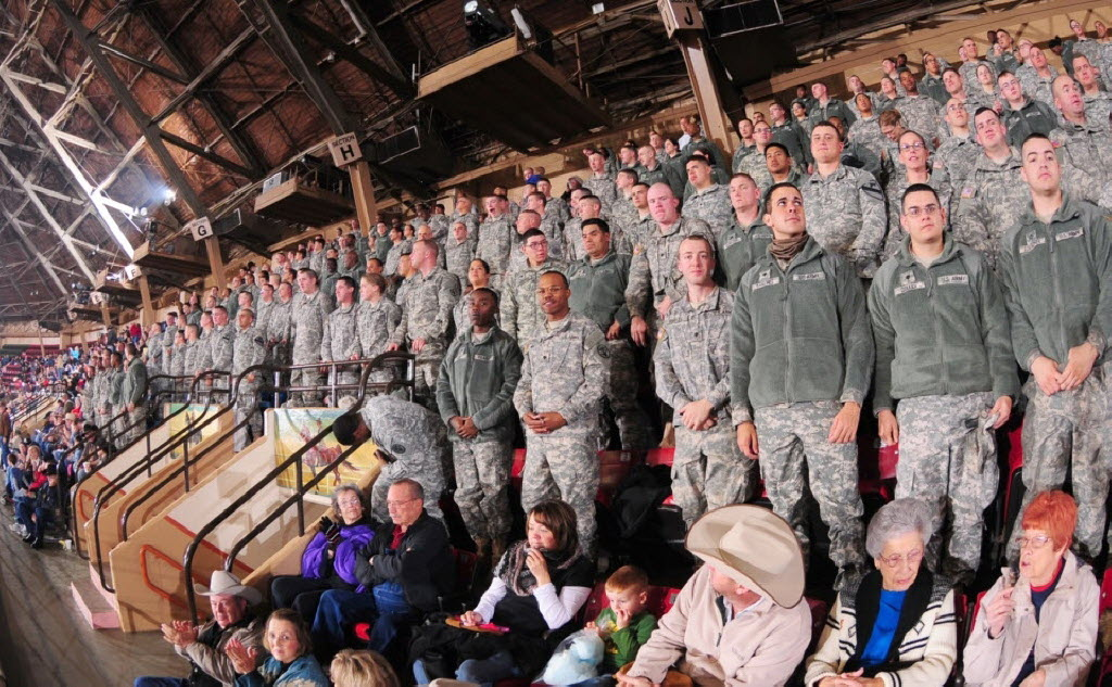 Denbury sponsored Military Appreciation Day at the 2015 Fort Worth Stock Show and Rodeo. Active and retired military personnel and their families got in free, courtesy of the company. (Denbury)