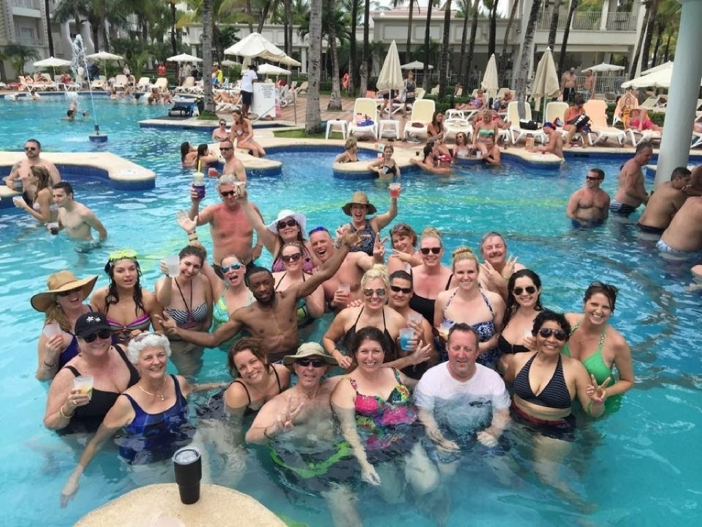 Century 21 Judge Fite takes its top-perfoming agents and staff members on a trip each year. This year 97 people and their guests went on the Passport to Paridise trip to Playa del Carmen, Mexico, in April.  (Century 21 Judge Fite)