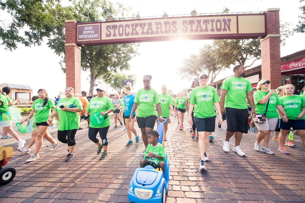 Texas Health Resources employees participate in the American Heart Association's annual Heart Walks in Dallas, Denton and Tarrant counties. This photo is from the 2015 Tarrant County event. (Texas Health Resources)