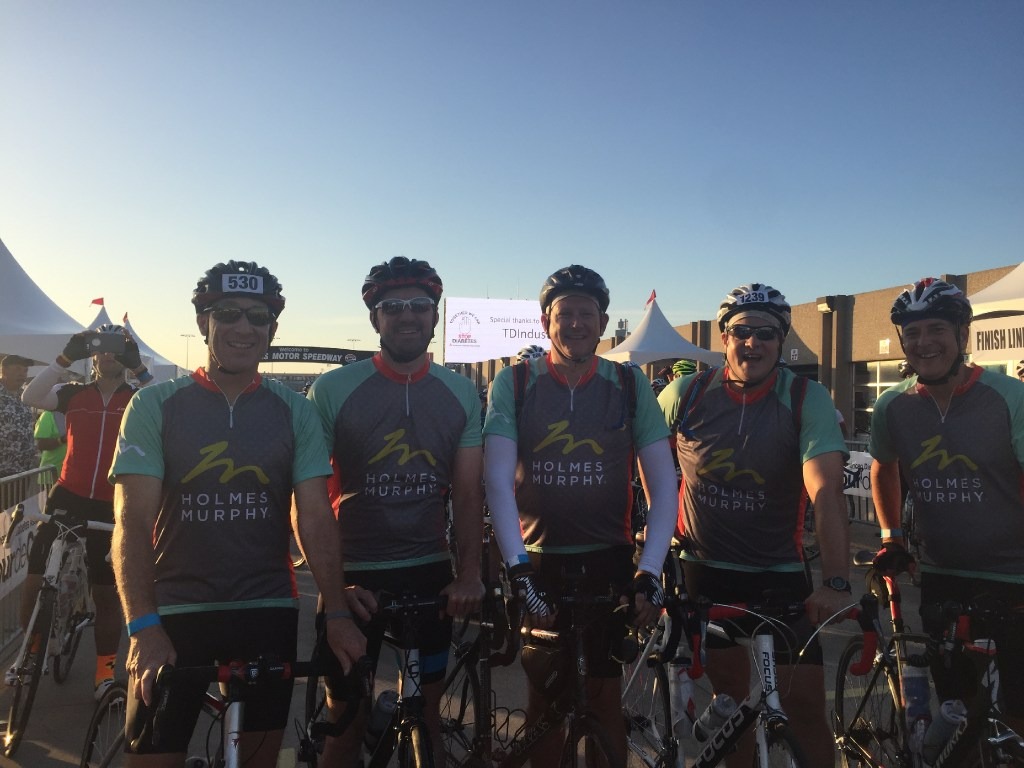 The Team Holmes Murphy cycling group rode in the American Diabetes Association's Tour de Cure. (Holmes Murphy)