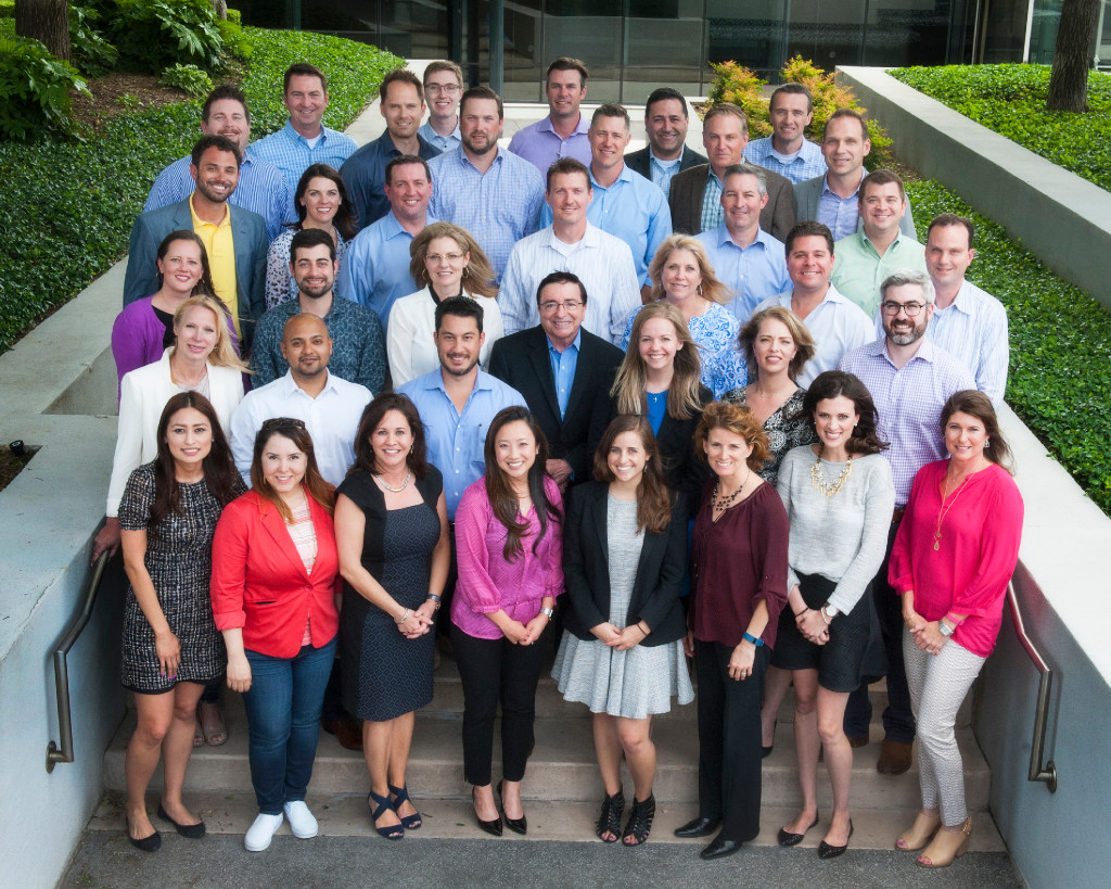 The Slalom Dallas office leadership team was photographed at its Dallas offices in March. (Slalom)