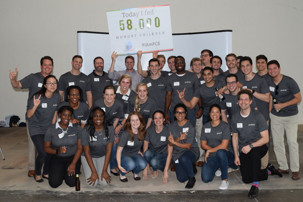 Protiviti employees held a meal-packing event in partnership with Feeding Children Everywhere. (Protiviti)