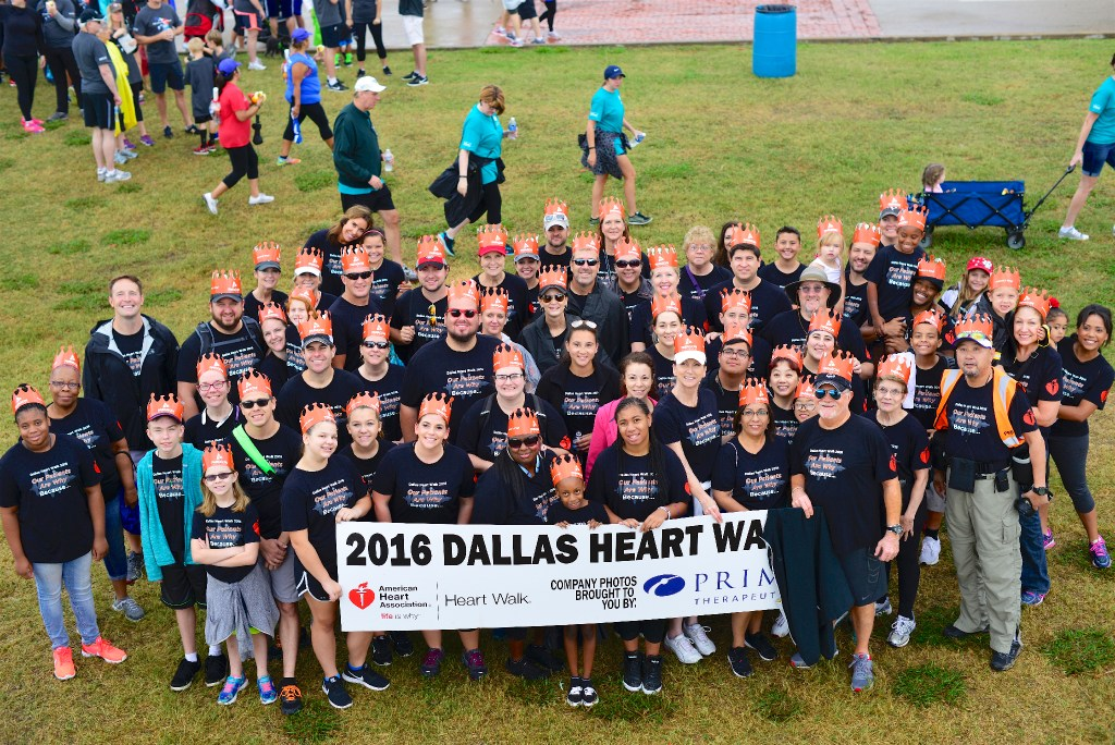 Paragon Healthcare's team at the 2016 American Heart Association Heart Walk. (Paragon Healthcare)