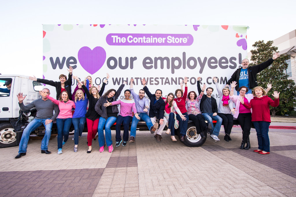 On Valentine's Day, The Container Store celebrated its sixth annual National We Love Our Employees Day! to officially recognize our employees and thank them. Each employee received gifts, thank you notes from their supervisors and treats. (Aggie Brooks)