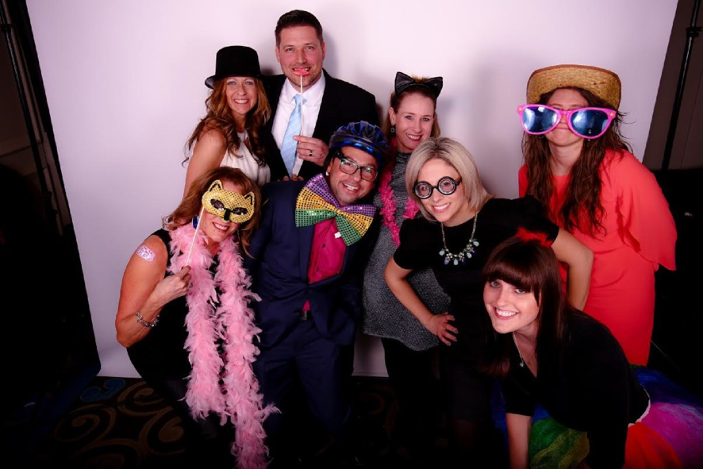 Workers from The Medicus Firm dress up for a company kick-off party. (The Medicus Firm)