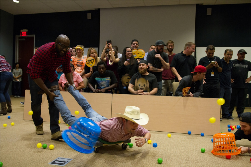 During Employee Appreciation Week, Stryker's workers have fun through team-building games and events. (Stryker Communications)