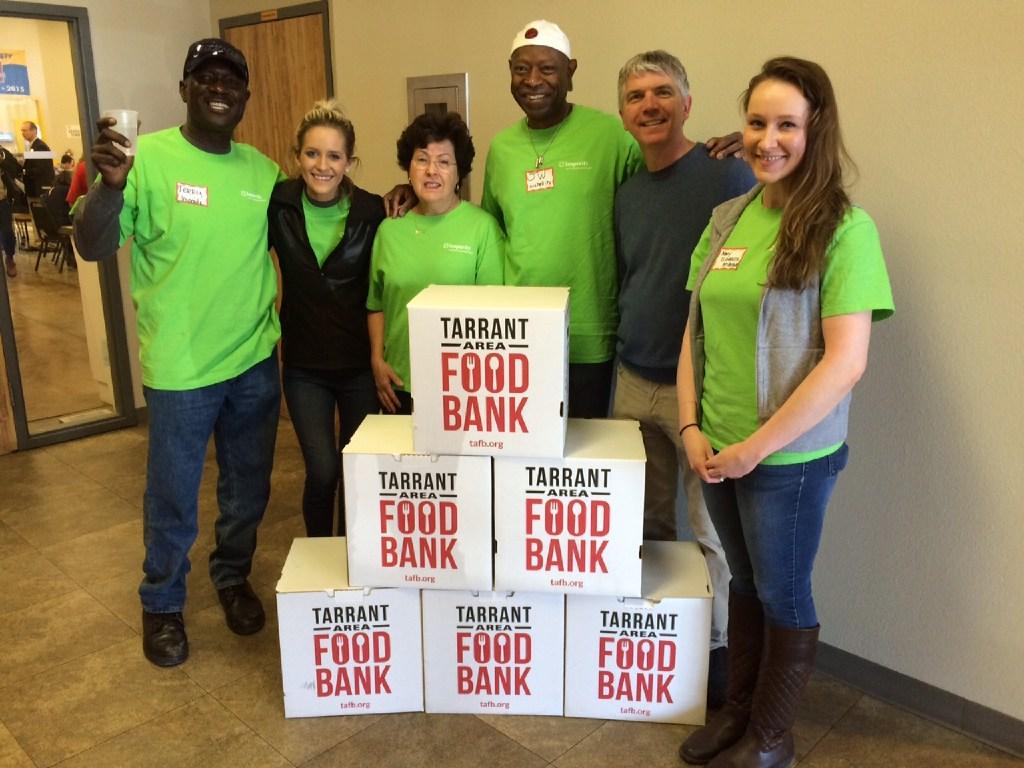 Insperity employees help out at the Tarrant Area Food Bank. (Insperity)
